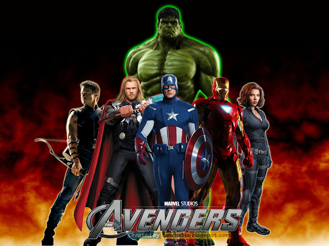 Hulk, Captain America, Thor, Iron Man, Black Widow