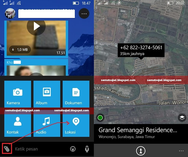 cara share lokasi di whatapp