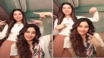 Janhvi Kapoor made the first TikTok video with Khushi