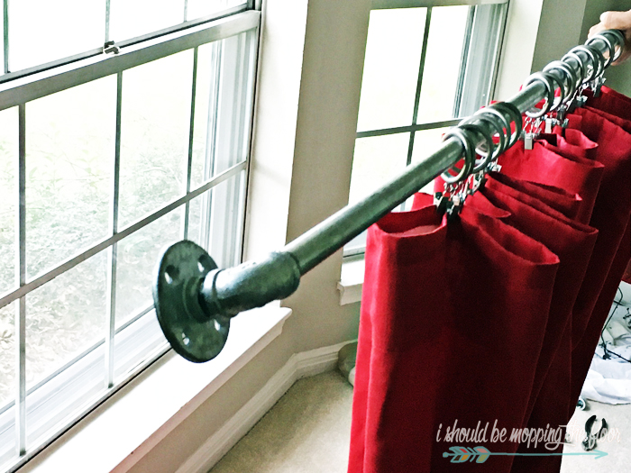 DIY Plumbing Pipe Curtain Rod Tutorial | Complete instructions, including extra long rods.