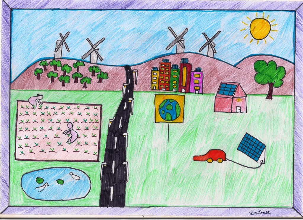 Solar school e journal painting competition on save fuel for Save energy painting