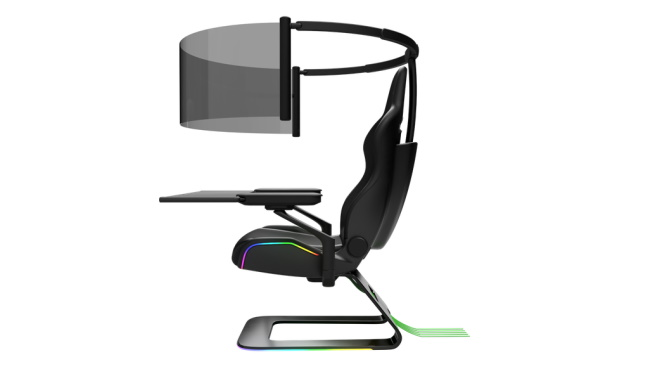 Razer's concept gaming chair with 60-inch OLED 2