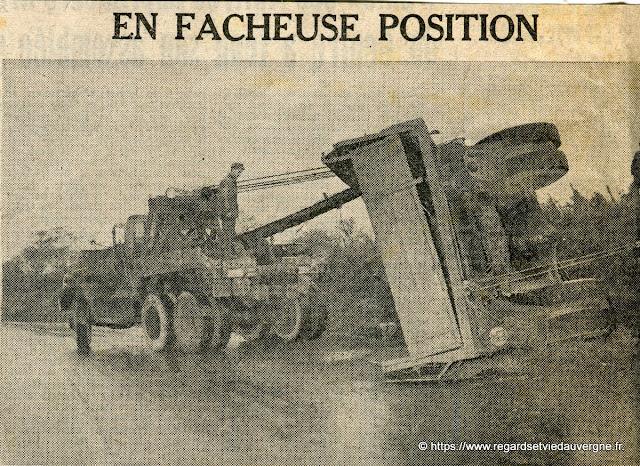 La Liberté 1961, accident cote de Ladoux, Clermont-Ferrand.