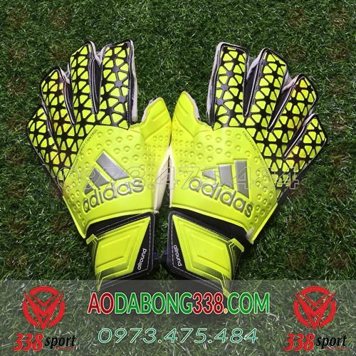 Găng Tay Thủ Môn Giá Rẻ Adidas Fingersave Wrist Control Xanh Chuối