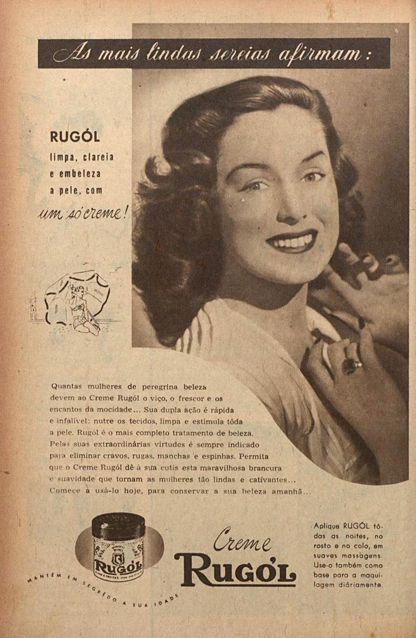 Propaganda antiga do Creme Rugol veiculada em 1951