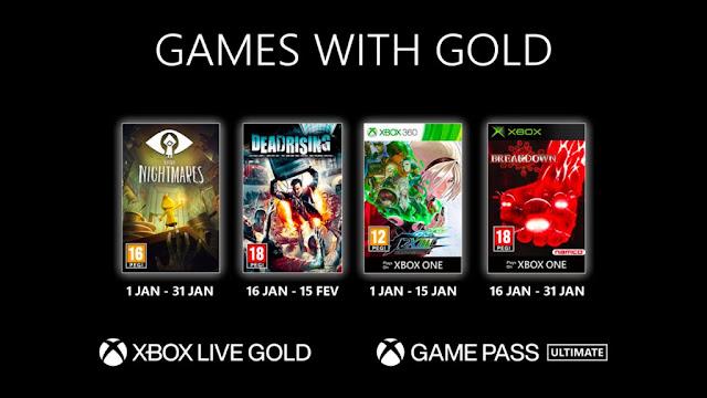 Xbox Live Gold : Les jeux de Janvier 2021