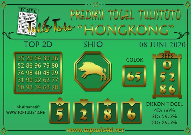 Prediksi Togel HONGKONG TULISTOTO 08 JUNI 2020