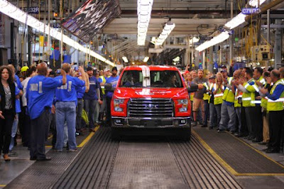 First 2015 F-150 Rolls Off the Rouge Center Assembly Line