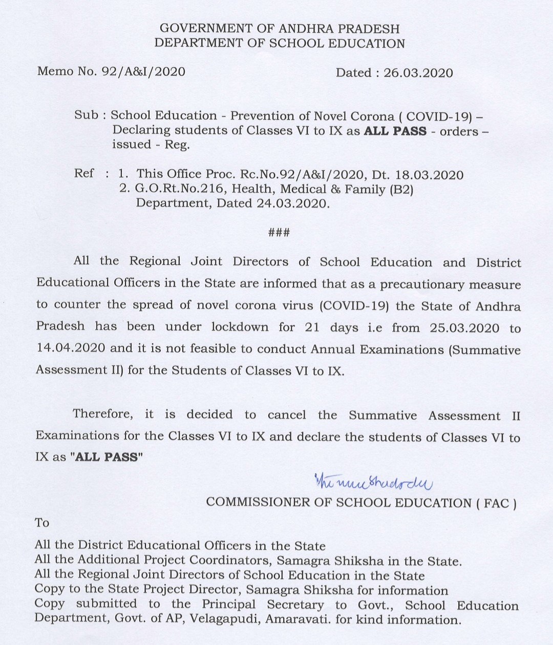 6-9th Class ALL Declared Passed