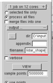 rename output shape file from LiDAR data
