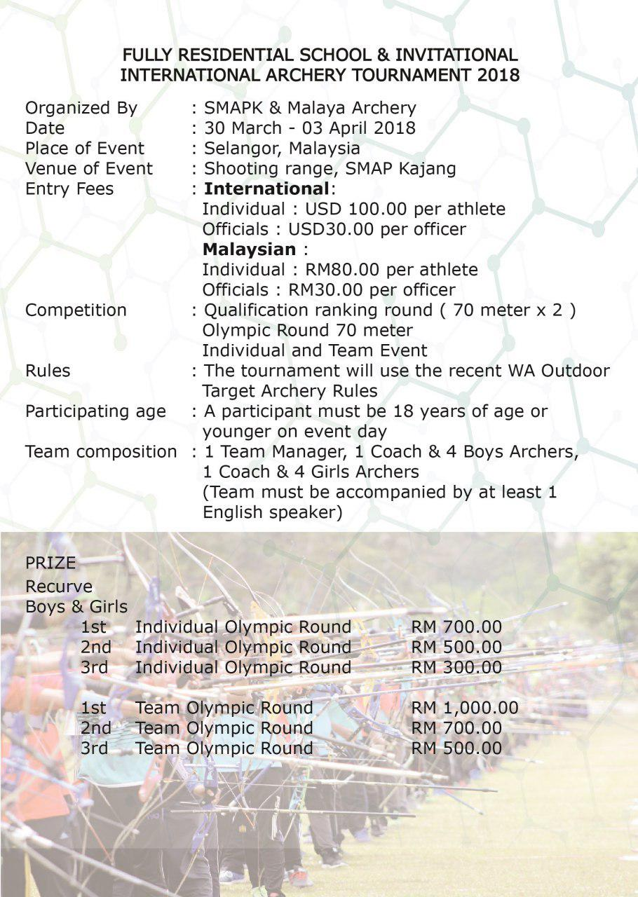 Official invitation for the fully residential school official invitation for the fully residential school invitational international archery tournament resitarchofficial2018 in malaysia stopboris Gallery