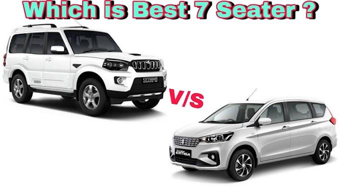 Maruti Suzuki Ertiga vs Mahindra Scorpio. Which one is Better under 13 Lakhs