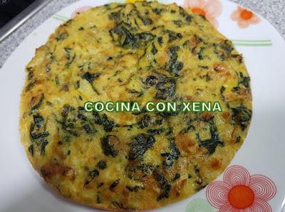 Cuajar Tortilla De Patatas Con Espinacas, En Freidora Tristar Xxl