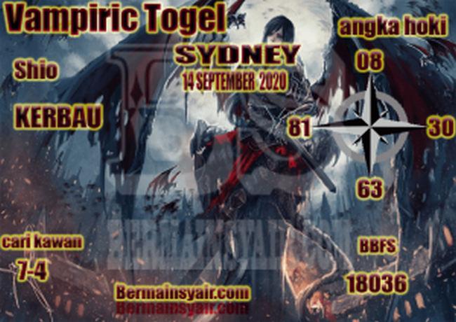 Kode syair Sydney Senin 14 September 2020 270