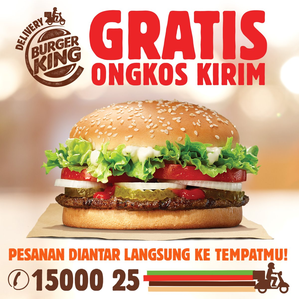 #BurgerKing - Promo Voucher Gratis Ongkir Pesan BK Online (s.d 31 Des 2018)