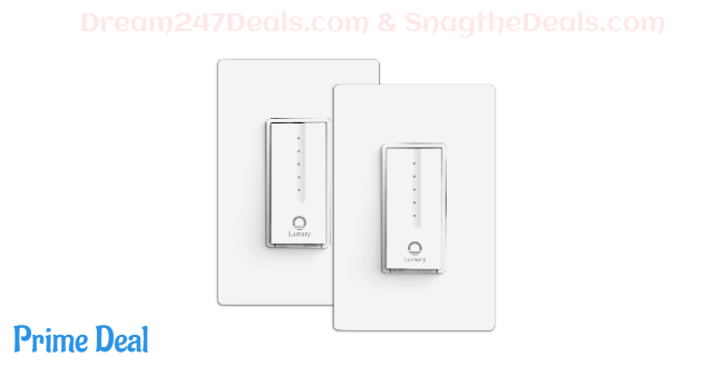 40% OFF Smart Wi-Fi Light Dimmer Switch--2 Pack