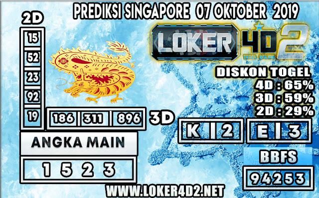 PREDIKSI TOGEL SINGAPORE LOKER4D2 07 OKTOBER 2019