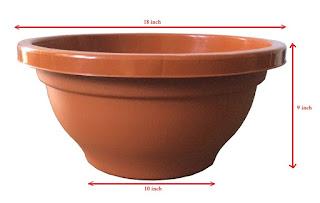 bonsai plastic round pots