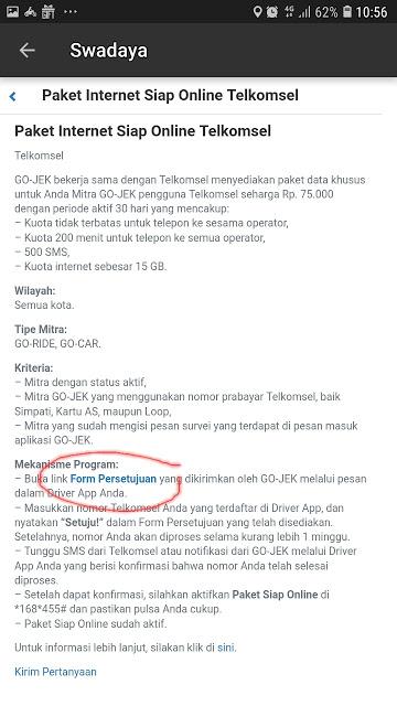 gambar Cara daftar paketan simpati 15 GB dari telkomsel dan gojek
