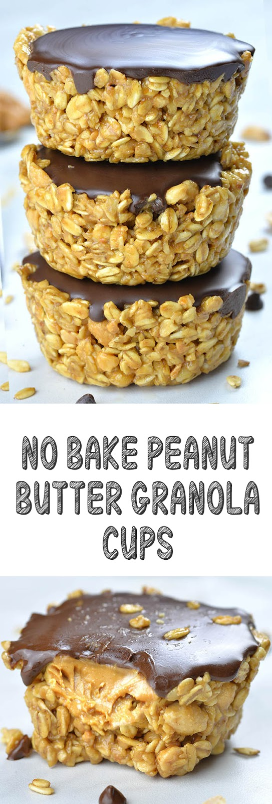 Recipe No Bake Peanut Butter Granola Cups #cookies #snack