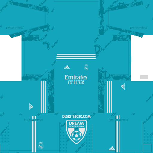 Real Madrid Kits 2020-2021 Adidas For Dream League Soccer 2019 (Home Goalkeeper)
