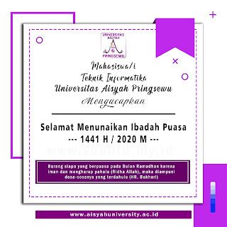 Sealmat menunaikan ibadan puasa 1441 H Universitas Aisyah Pringsewu
