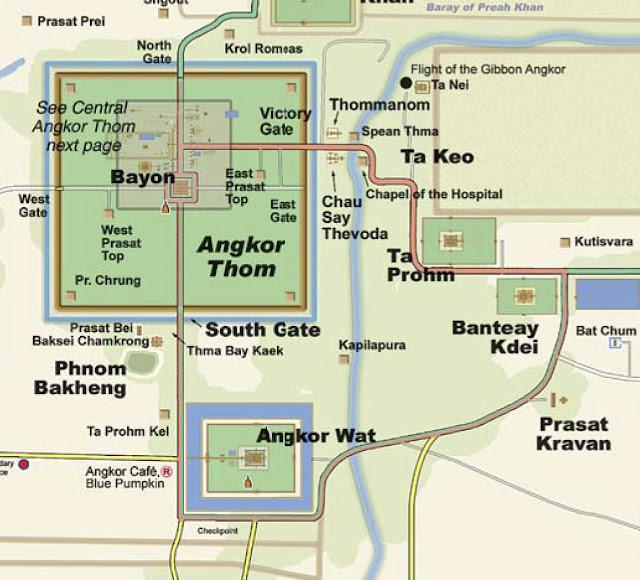 Карта Ангкора Сием Рип