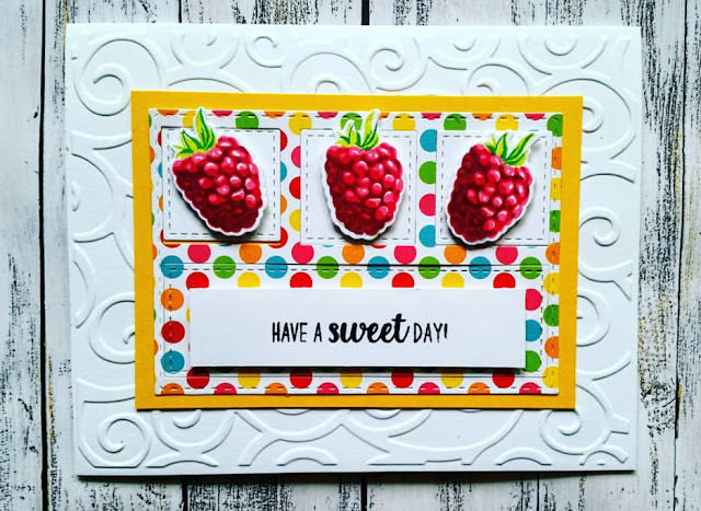 Sunny Studio Stamps: Berry Bliss Customer Card Share by Judy Tuck