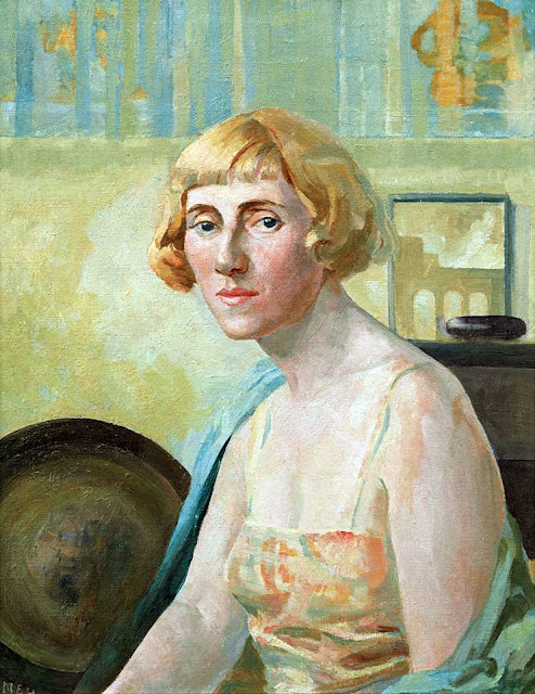 Maud Sumner, Self Portrait, Portraits of Painters, Maud Frances Eyston Sumner, Fine arts, Portraits of painters blog, Paintings of Maud Sumner, Painter Maud Sumner