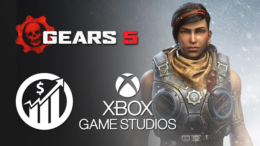 gears 5 xbox game studios biggest launch record break pc steam xbox one game pass