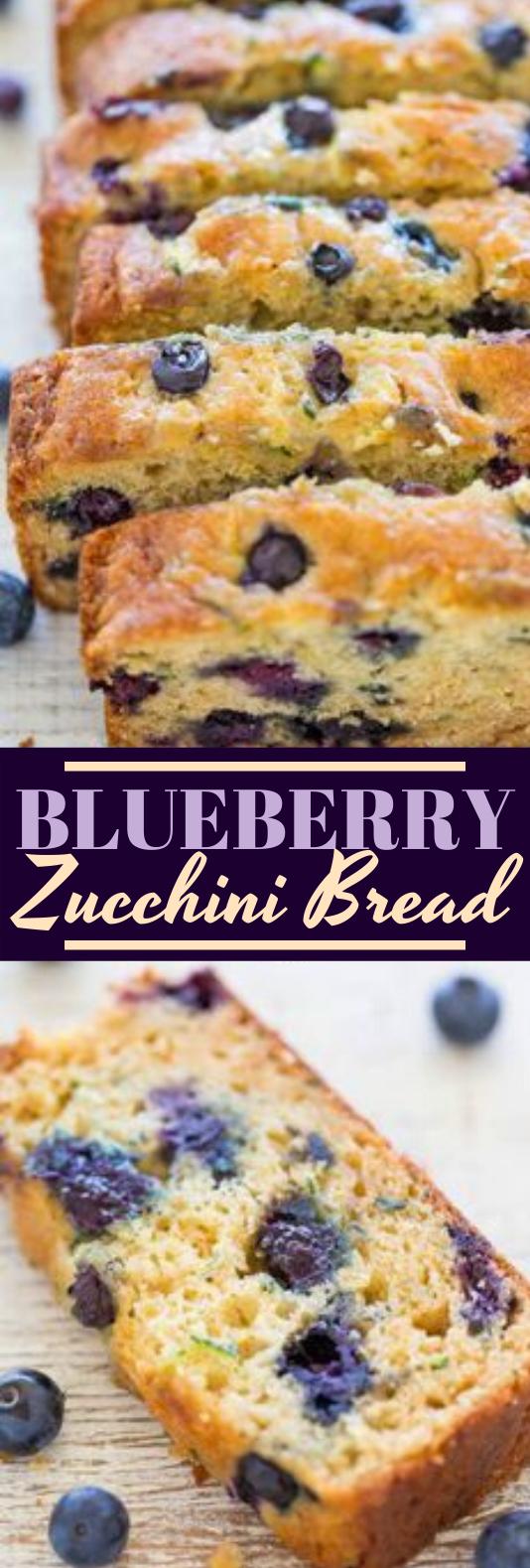Blueberry Zucchini Bread #healthy #breakfast #bread #paleo #recipe