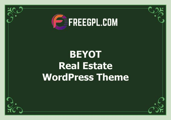 BEYOT - WordPress Real Estate Theme Free Download
