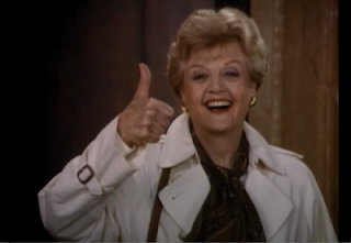 Angela Lansbury gives a thumbs up