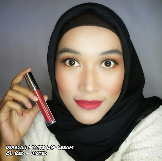 Wardah Exclusive Matte Lip Cream 01. Red-dicted