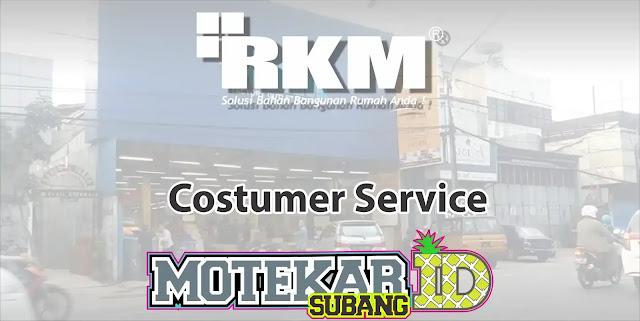 Lowongan Kerja Costumer Service RKM Pamanukan Subang 2019