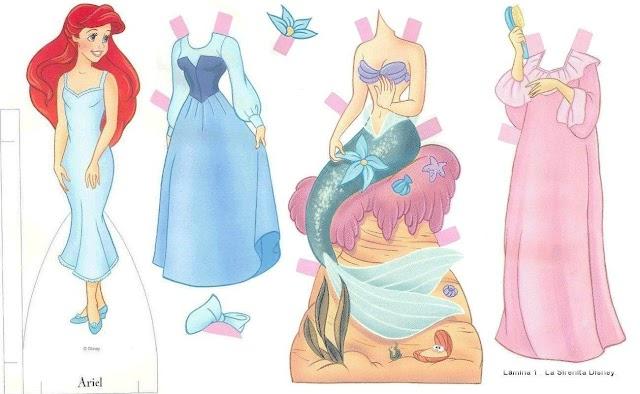 Бумажные куклы принцессы Диснея