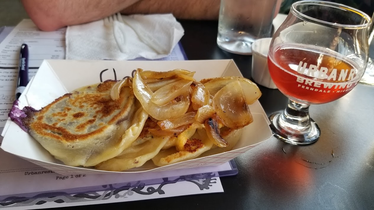 Pierogies at Urbanrest Brewing, Ferndale, MI