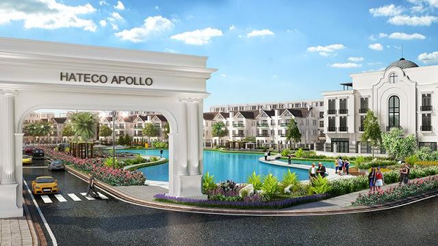 cổng vào dự án Hateco Apollo