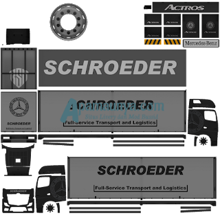 Download Livery Truck Actros Black Roda 10
