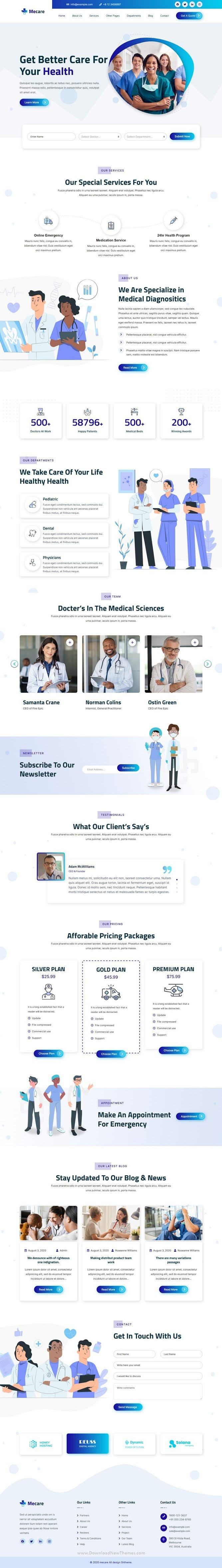 Hospital and Health WordPress Theme