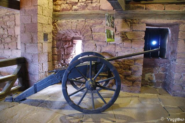 I cannoni nel Grande Bastione del castello di Haut Koenigsbourg