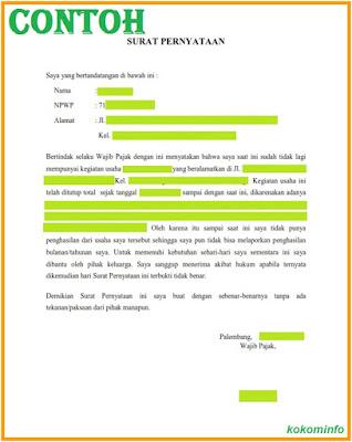 KOMIK & KOMPUTER INFORMASI: Contoh Surat Pernyataan Tidak ...