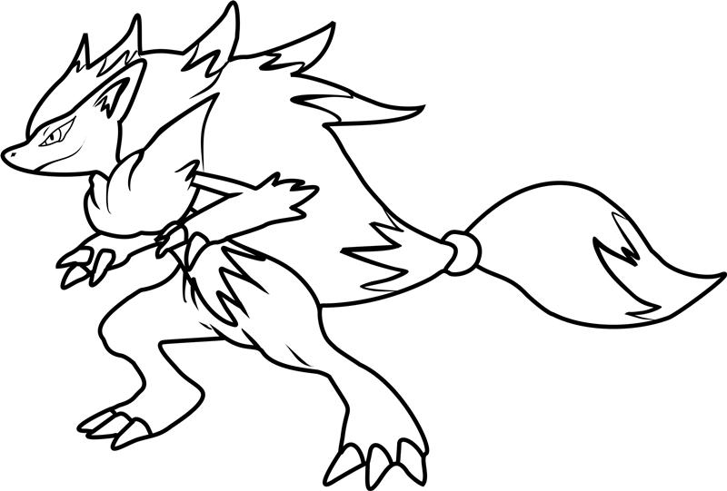 Desenhos De Zoroark Em Pokemon Para Colorir E Imprimir