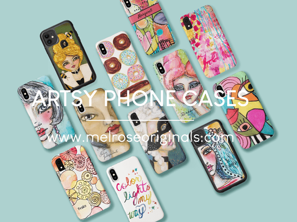 pinnable image of artsy phone cases that stand out in a crowd
