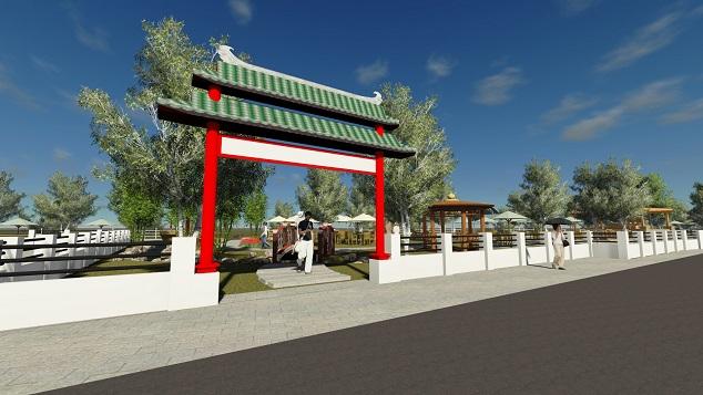 BELAJAR DESAIN Jasa Desain Pintu Gerbang Pagar Cafe Taman