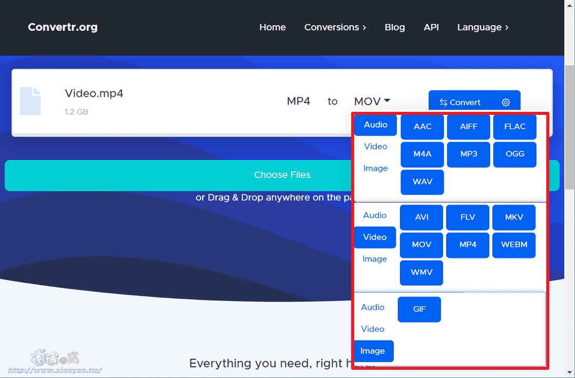 Convertr.org 線上轉換檔案格式