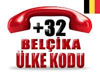 +32 Belçika ülke telefon kodu