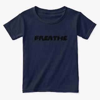 Breathe Toddler Classic Tee Shirt Navy
