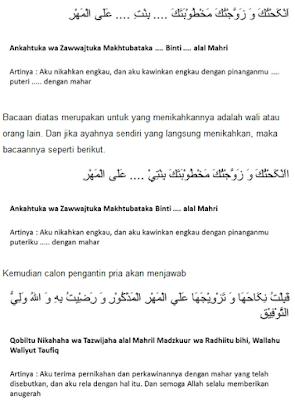 lafal ijab qobul bahasa arab