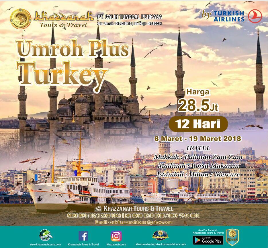 Umroh plus Turki Maret 2018